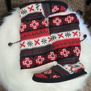 Gorgeous Knit Slipper Boots!